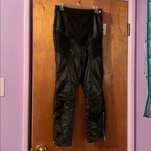Free People Kaelin Moto Faux Leather Pants
